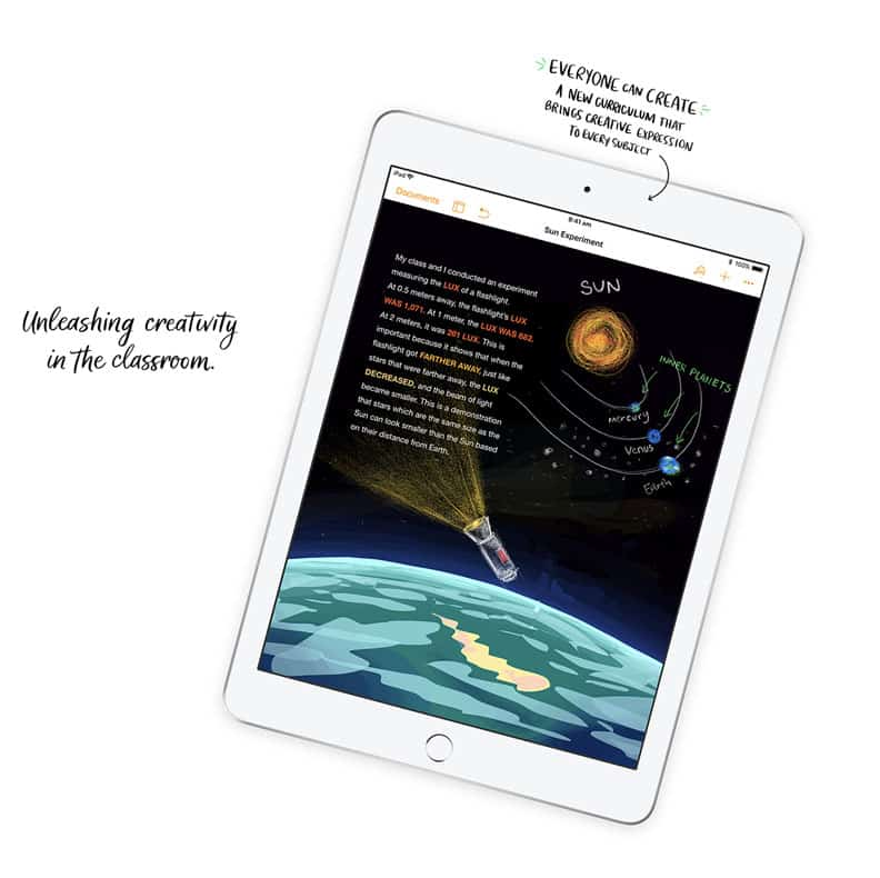 "apple education event ipad 9.7"" with apple pencil"